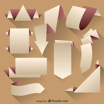 Origami-tags vector set