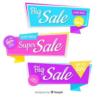 Origami verkoop banner collectio