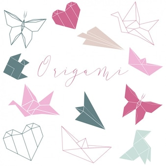 Origami vormen collectie