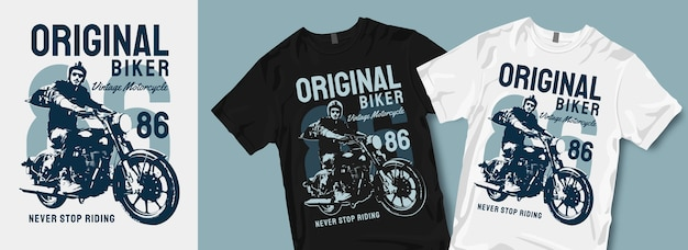 Origineel biker vintage motorfiets t-shirtontwerp