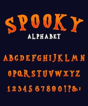 Origineel griezelig alfabet