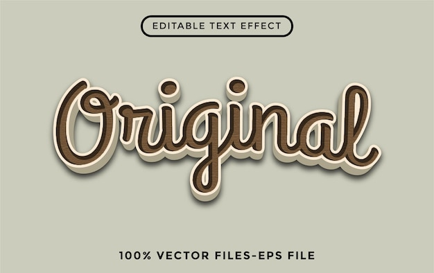 Origineel - illustrator bewerkbaar teksteffect premium vector