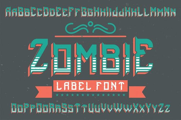 Origineel labellettertype genaamd '