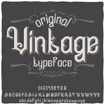 Origineel labeltype met de naam 'vintage'