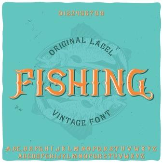 Origineel labeltype met de naam 'vissen'