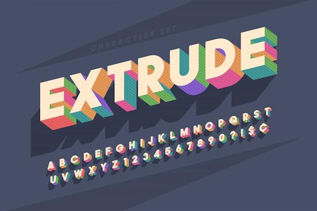 Origineel retro display lettertype ontwerp