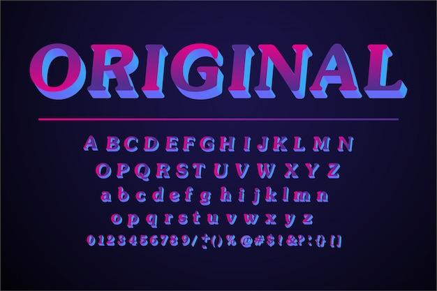 Originele alfabetletters ingesteld