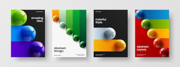 Originele boekomslag a4 vector ontwerpconcept samenstelling