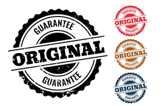 Originele garantie authentieke rubberen stempel set van vier