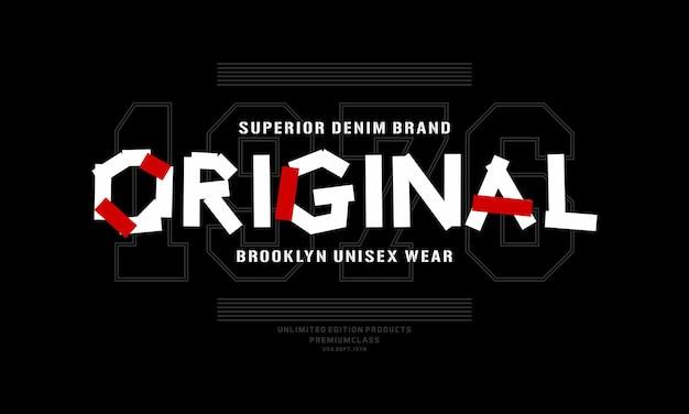 Originele grafische typografie vector t-shirt ontwerp illustratie premium vector