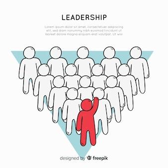 Originele hand getrokken leiderschapssamenstelling
