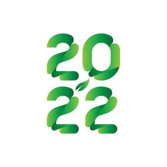 Originele inscriptie voor het nieuwe jaar 2022. platte vectorillustratie eps10.