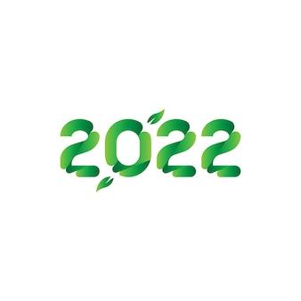 Originele inscriptie voor het nieuwe jaar 2022. platte vectorillustratie eps10. Premium Vector
