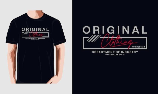 Originele kleding vectorillustratie premium vector