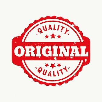 Originele kwaliteit stamp