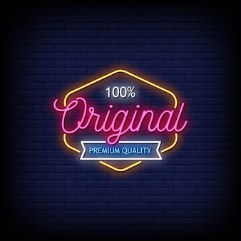 Originele premium quality logo neon signs style text