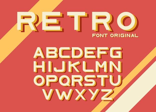 Originele retro lettertype sjabloon