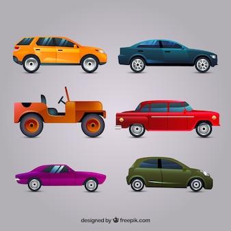 Originele verscheidenheid aan realistische auto's