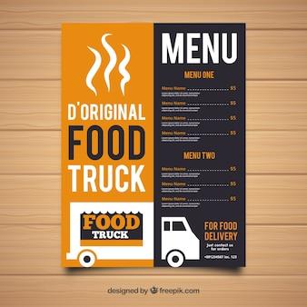 Originele voedselvrachtwagen menu sjabloon
