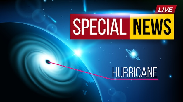 Orkaan cycloon wind nieuws banner