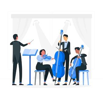 Orkest concept illustratie