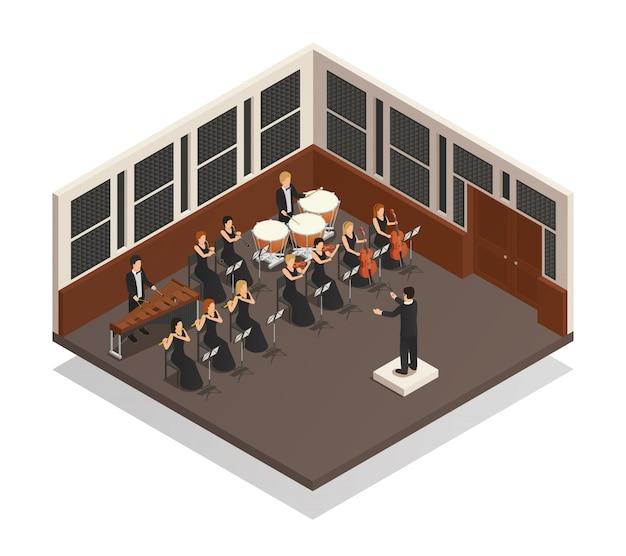 Orkest isometrische compositie