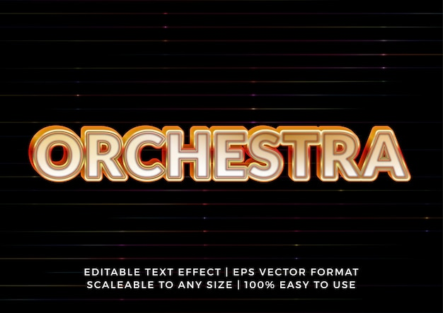 Orkestmuziek 3d-titelteksteffect