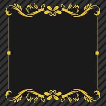 Ornament floral frame achtergrond