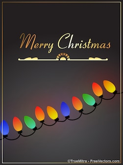 Ornament gekleurde lampjes kaart