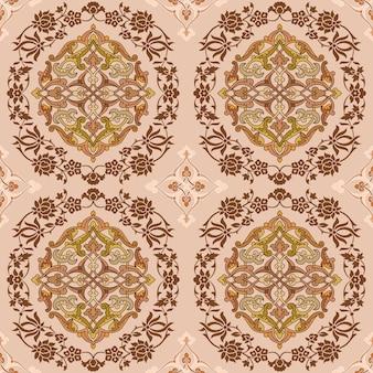 Ornament indisch patroon voor behangachtergrond.