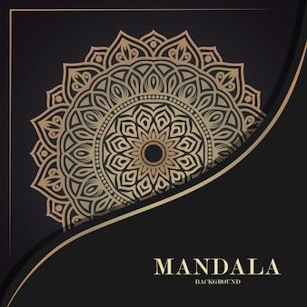 Ornament luxe mandala achtergrond