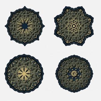 Ornament mandala ontwerp, lasersnijden decoratie
