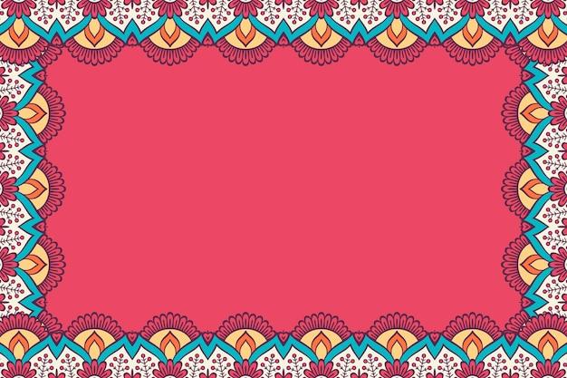 Ornament mooie achtergrond geometrisch bloemenkader