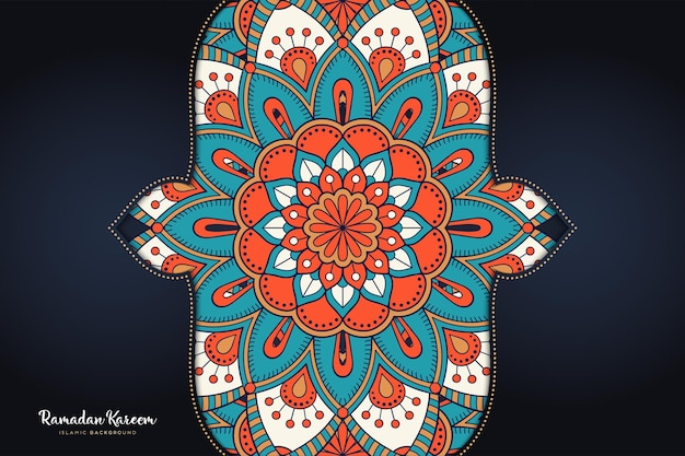 Ornament mooie achtergrond geometrische cirkelelement Gratis Vector