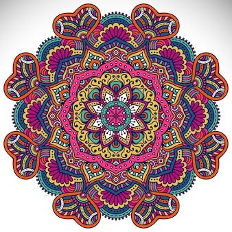 Ornament mooie kaart met mandala geometrische cirkel element gemaakt in vector