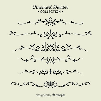Ornament scheidingslijn collectie