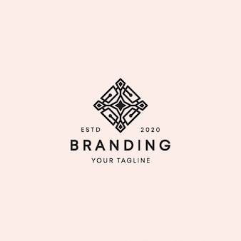Ornament star-logo ontwerpsjabloon