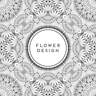 Ornamentale bloemenontwerp