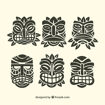 Ornamentele tiki masker collectie