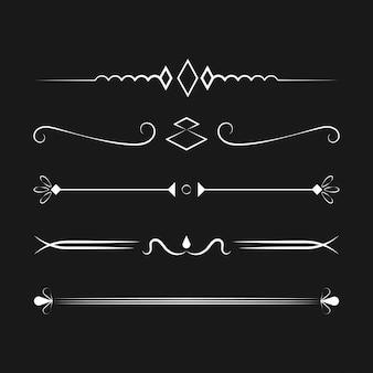 Ornamenten collectie vector ontwerpconcept