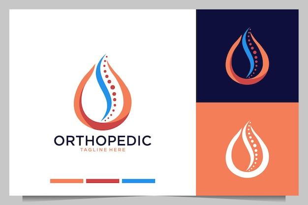 Orthopedisch met drop modern elegant logo-ontwerp