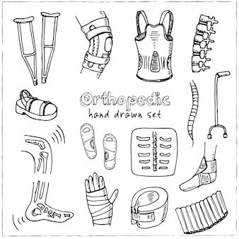 Orthopedische collectie geïsoleerde illustratie