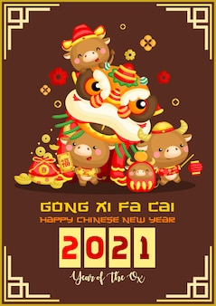 Os spelen leeuwendans in chinees nieuwjaar viering