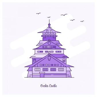 Osaka castle landmark