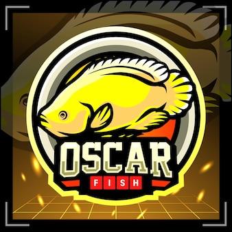 Oscar vis mascotte esport logo ontwerp
