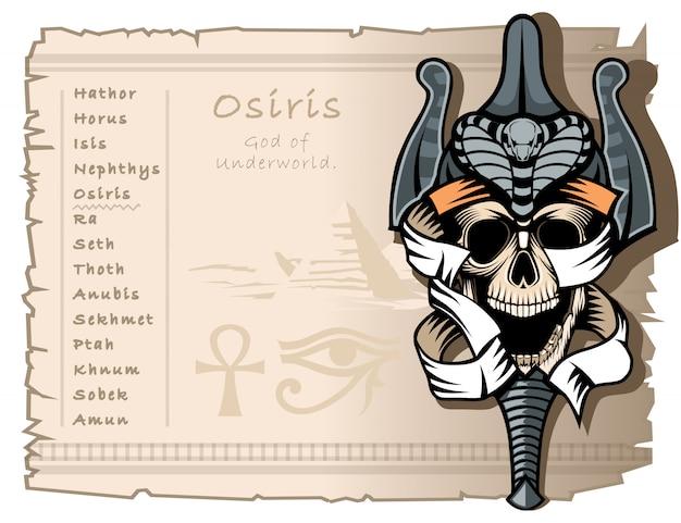 Osiris de god van de onderwereld