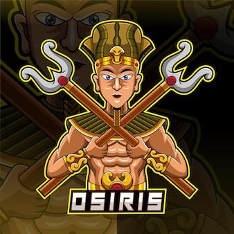 Osiris esport mascotte logo ontwerp