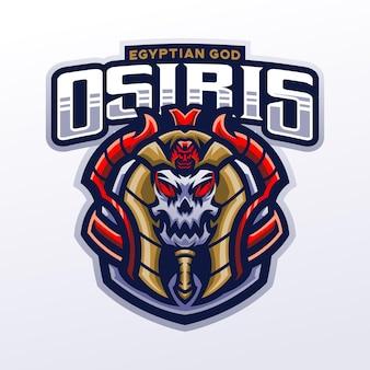 Osiris mascotte illustratie