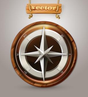 Oud 3d kompas