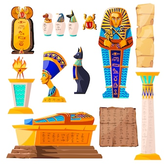 Oud egypte vector cartoon